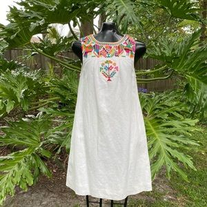 Madewell X JM Dry Goods Embroidered Dress